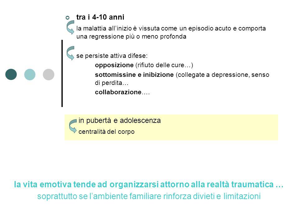 la vita emotiva tende ad organizzarsi attorno alla realtà traumatica …