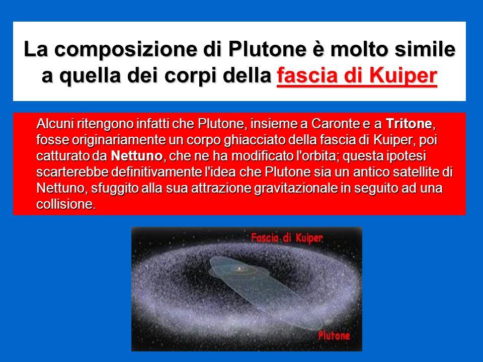 La composizione di Plutone è molto simile a quella dei corpi della fascia di Kuiper