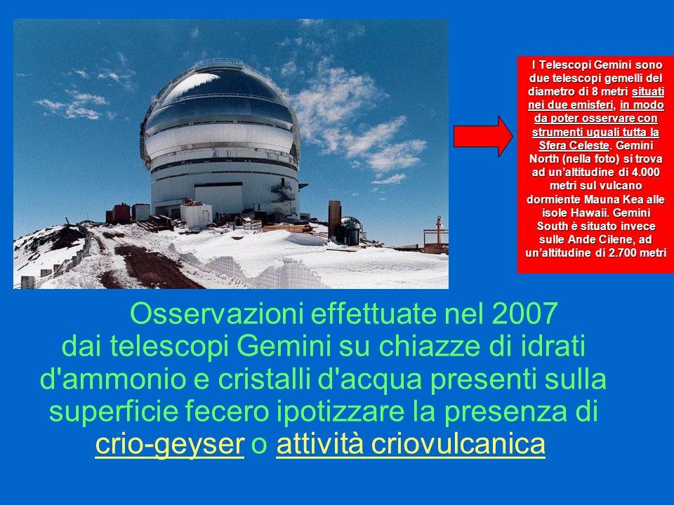 I Telescopi Gemini sono due telescopi gemelli del diametro di 8 metri situati nei due emisferi, in modo da poter osservare con strumenti uguali tutta la Sfera Celeste. Gemini North (nella foto) si trova ad un'altitudine di 4.000 metri sul vulcano dormiente Mauna Kea alle isole Hawaii. Gemini South è situato invece sulle Ande Cilene, ad un'altitudine di 2.700 metri