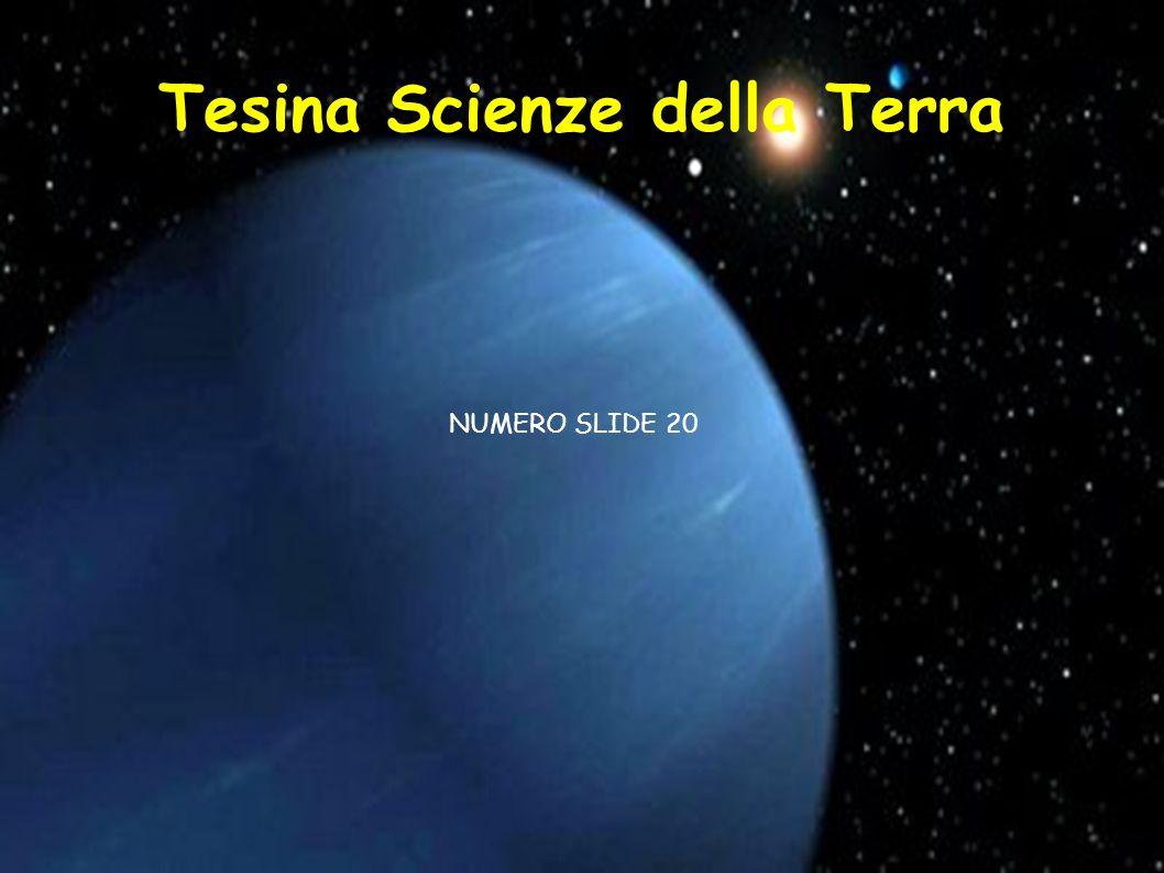 Tesina Scienze della Terra