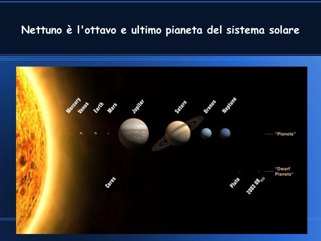 Nettuno è l ottavo e ultimo pianeta del sistema solare