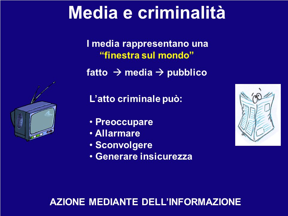 Media e criminalità I media rappresentano una finestra sul mondo