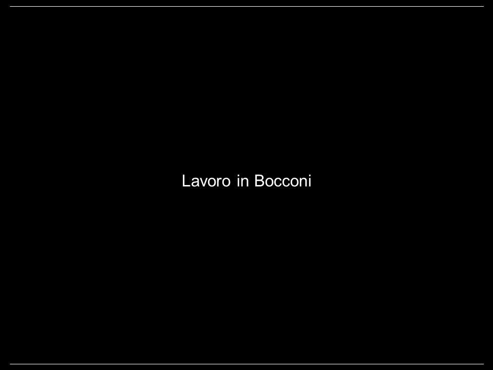 Lavoro in Bocconi