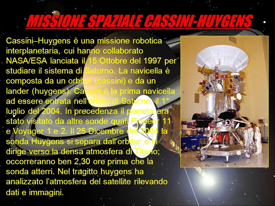 MISSIONE SPAZIALE CASSINI-HUYGENS