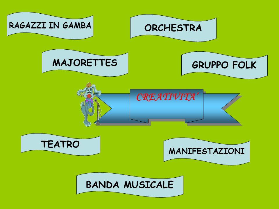 CREATIVITA' ORCHESTRA MAJORETTES GRUPPO FOLK TEATRO BANDA MUSICALE
