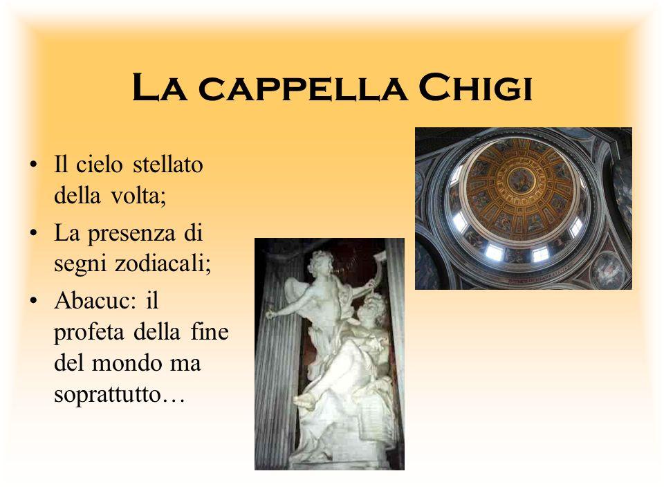 La cappella Chigi Il cielo stellato della volta;