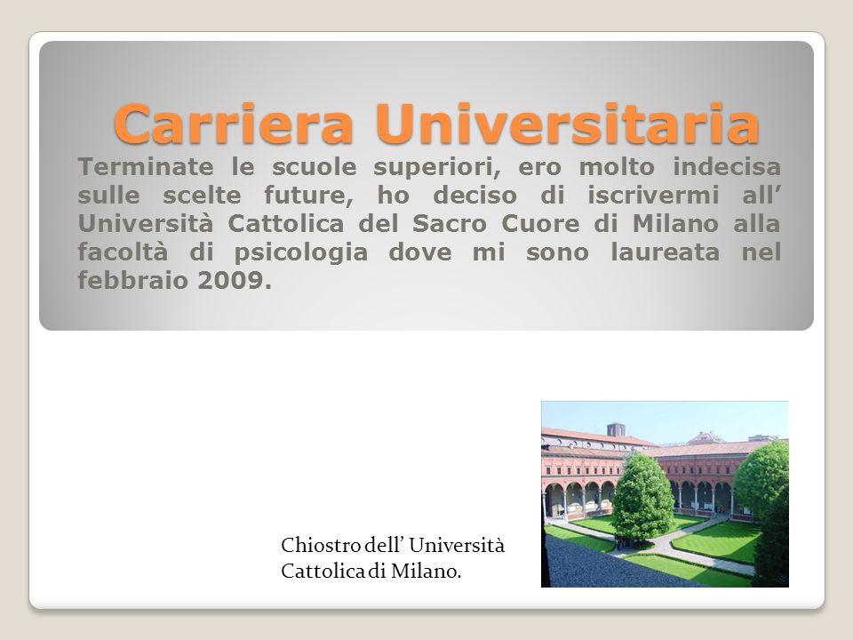 Carriera Universitaria