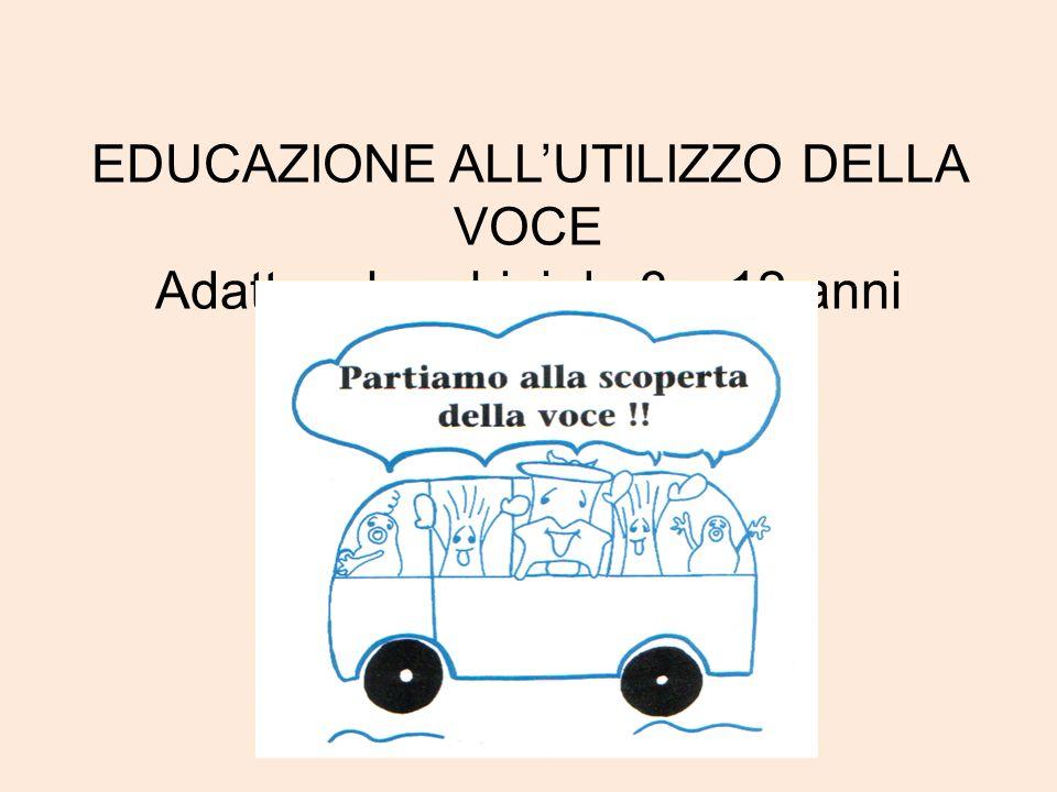 EDUCAZIONE ALL'UTILIZZO DELLA VOCE Adatto a bambini da 3 a 12 anni