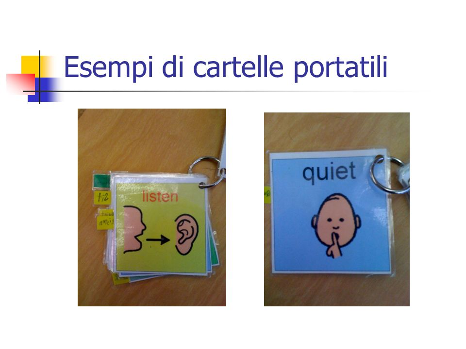 Esempi di cartelle portatili