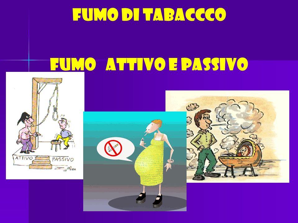 FUMO DI TABACCCO FUMO ATTIVO E PASSIVO