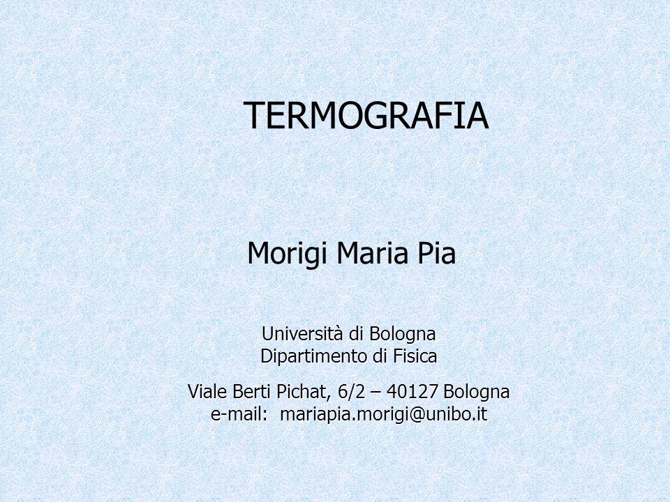 Università di Bologna Dipartimento di Fisica