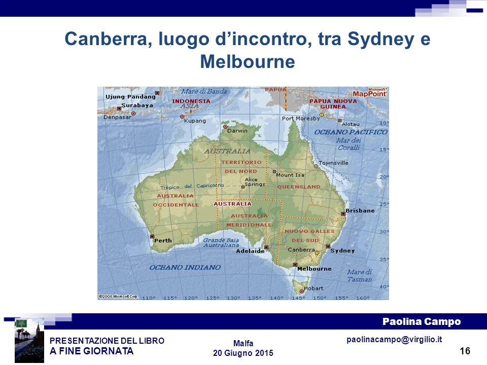 Canberra, luogo d'incontro, tra Sydney e Melbourne