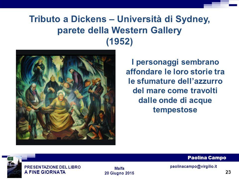 Tributo a Dickens – Università di Sydney, parete della Western Gallery (1952)