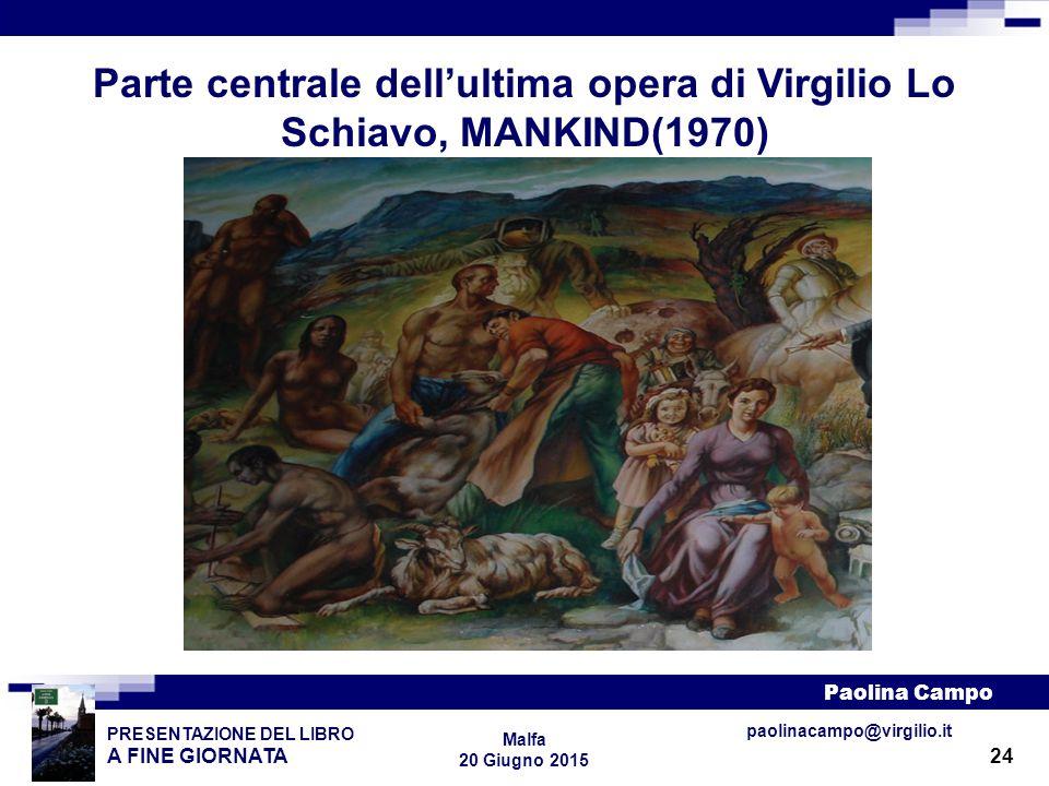 Parte centrale dell'ultima opera di Virgilio Lo Schiavo, MANKIND(1970)