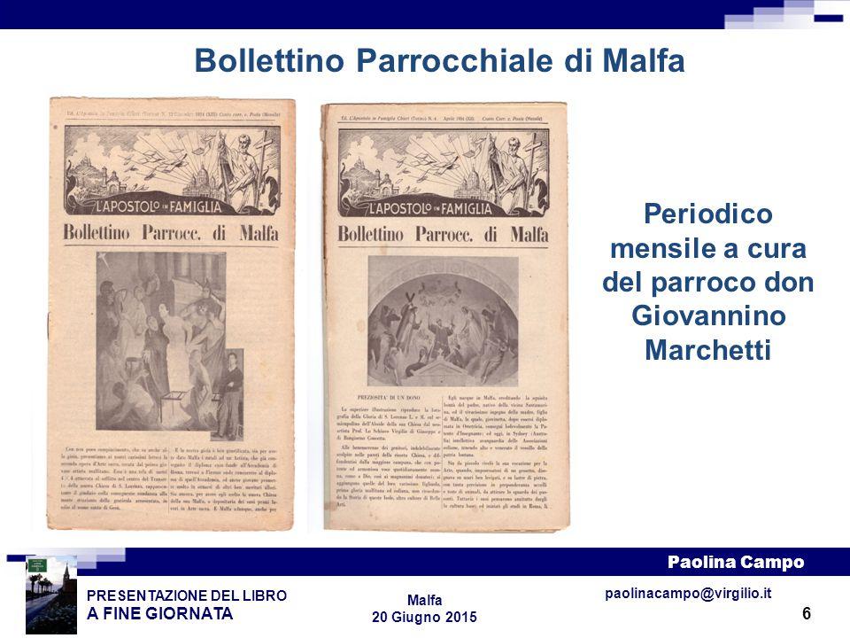 Bollettino Parrocchiale di Malfa