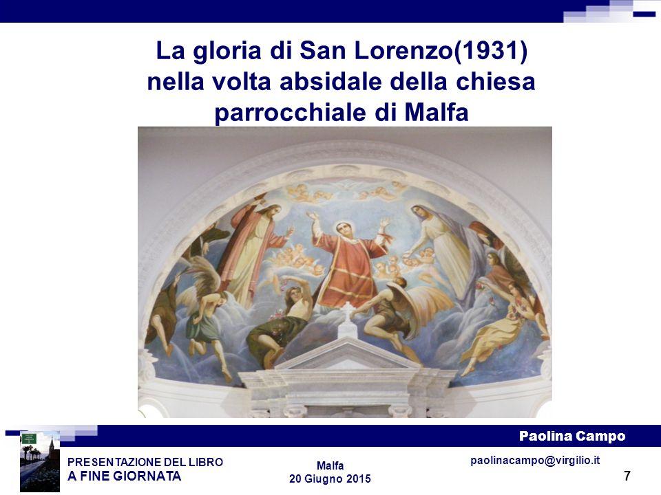 La gloria di San Lorenzo(1931) nella volta absidale della chiesa parrocchiale di Malfa