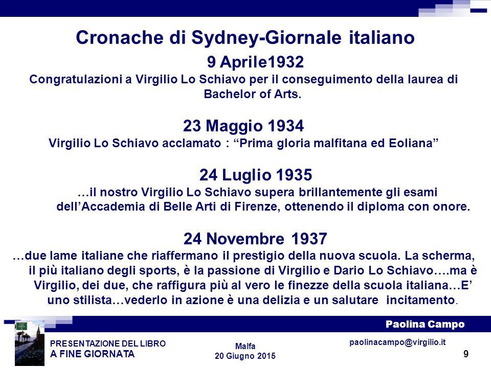 Cronache di Sydney-Giornale italiano