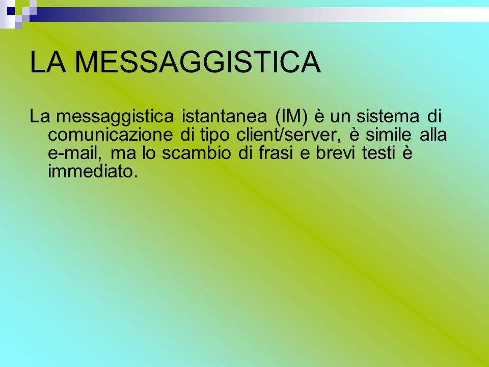 LA MESSAGGISTICA