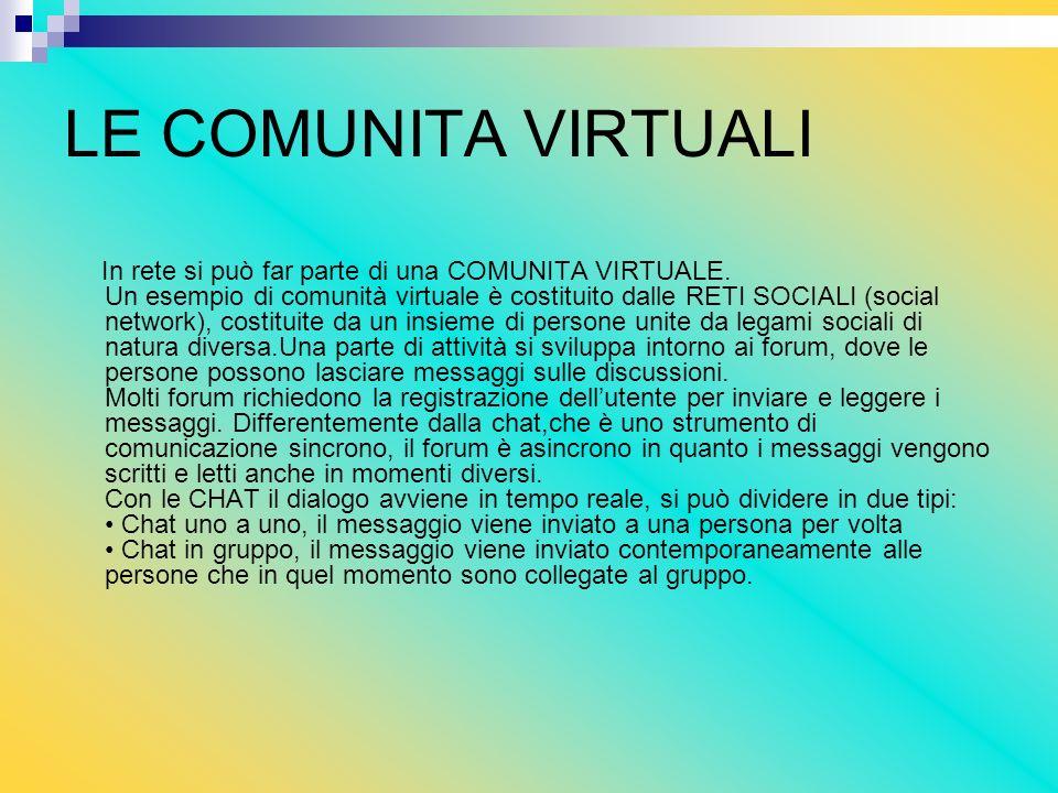 LE COMUNITA VIRTUALI