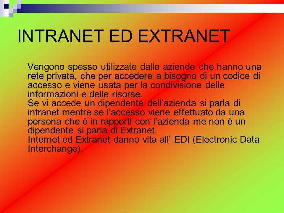 INTRANET ED EXTRANET