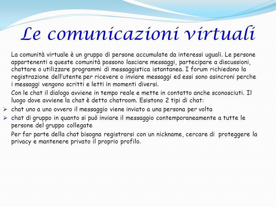 Le comunicazioni virtuali