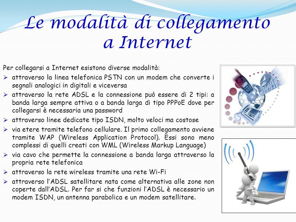 Le modalità di collegamento a Internet