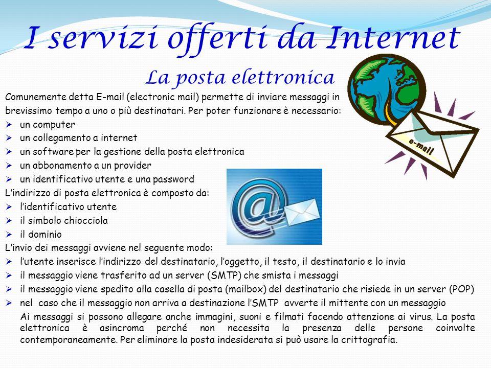 I servizi offerti da Internet