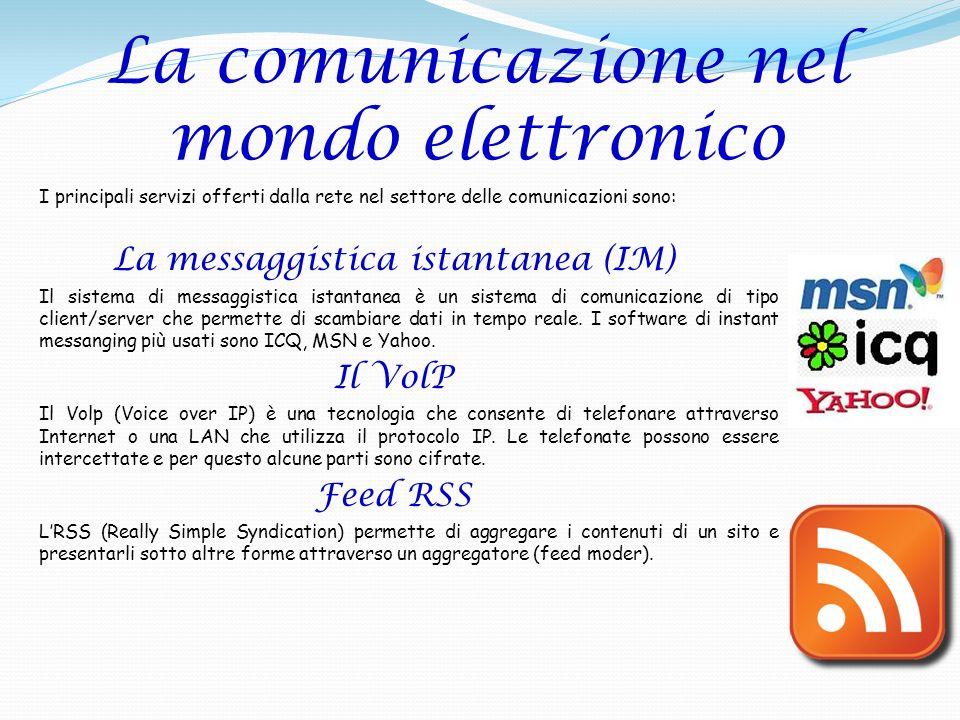 La comunicazione nel mondo elettronico
