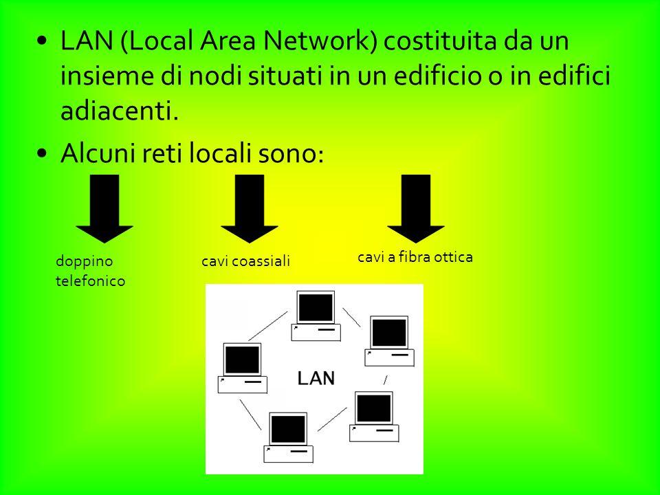 Alcuni reti locali sono:
