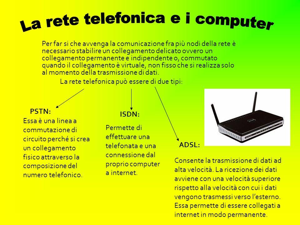 La rete telefonica e i computer