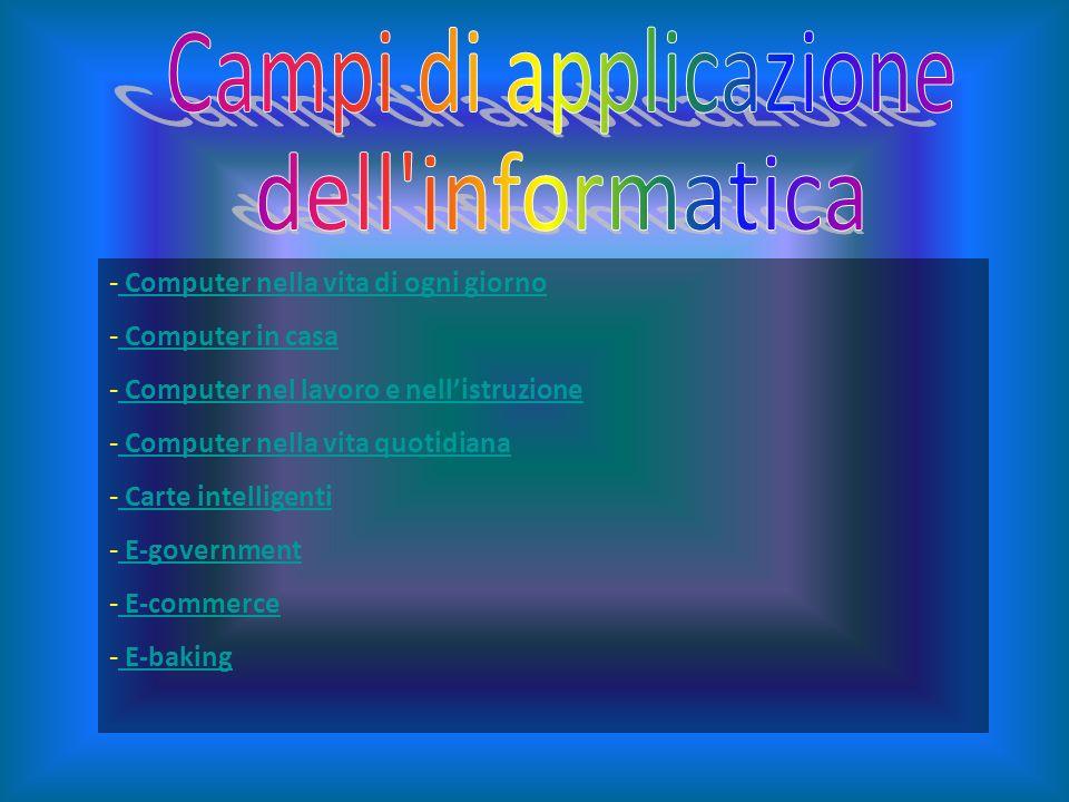 Campi di applicazione dell informatica