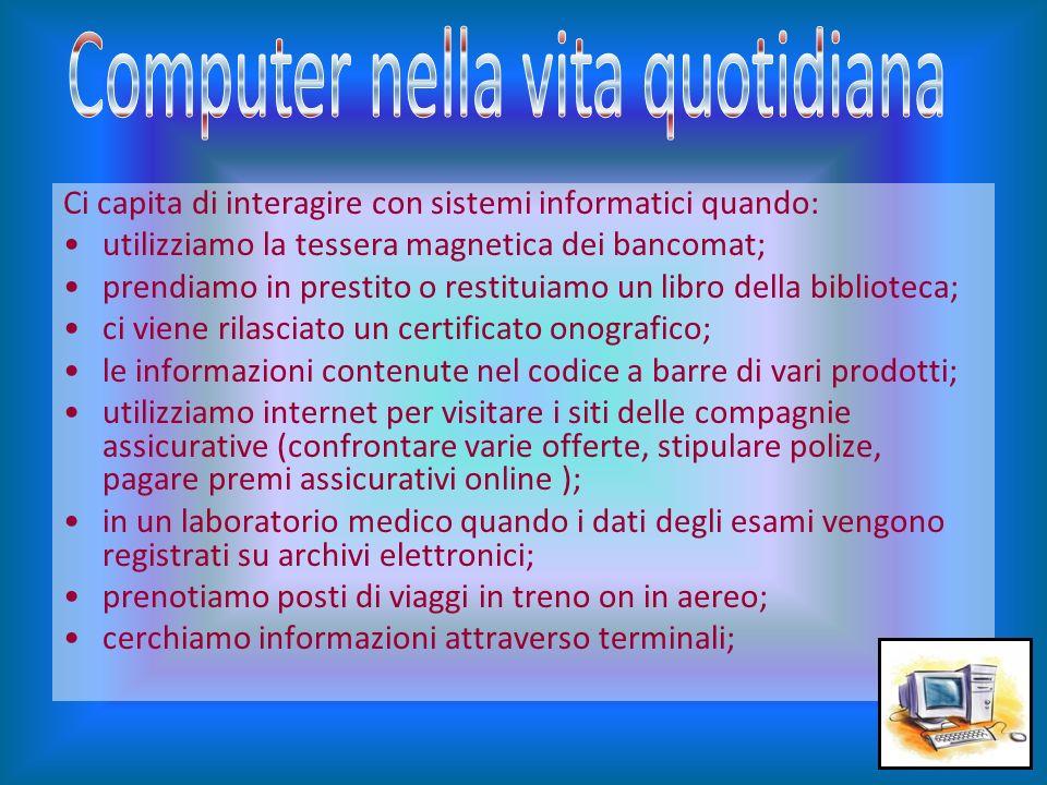 Computer nella vita quotidiana