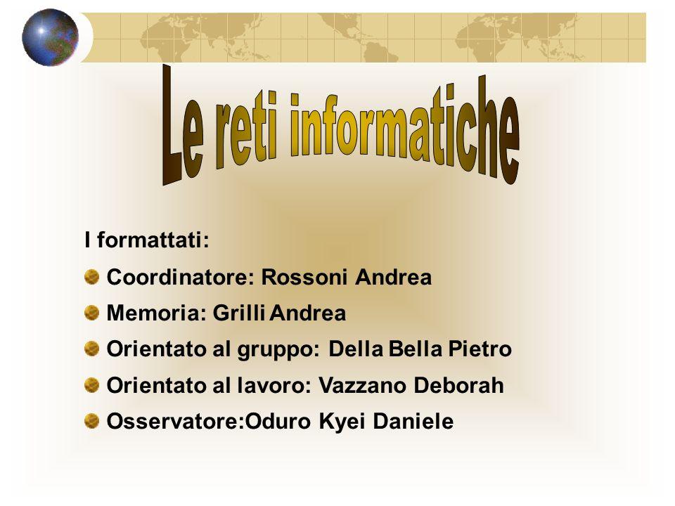 Le reti informatiche I formattati: Coordinatore: Rossoni Andrea
