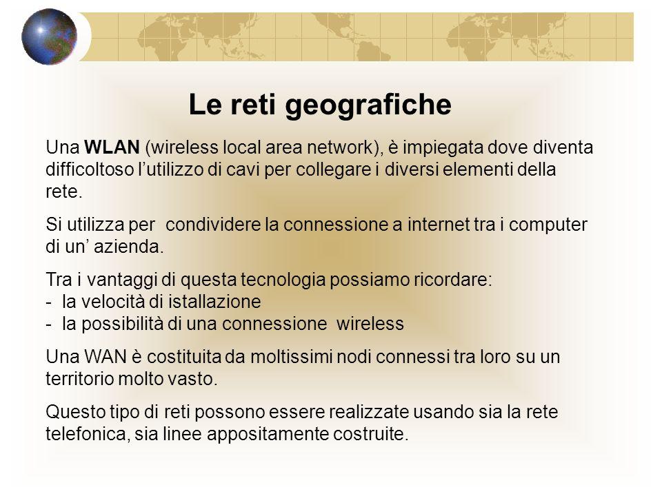 Le reti geografiche