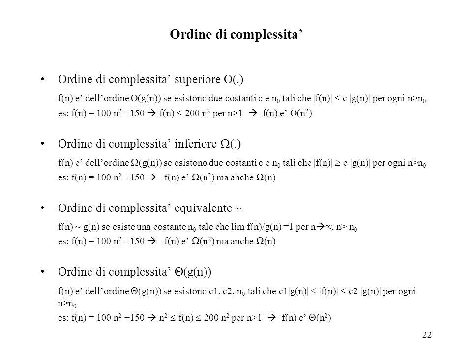 Ordine di complessita'