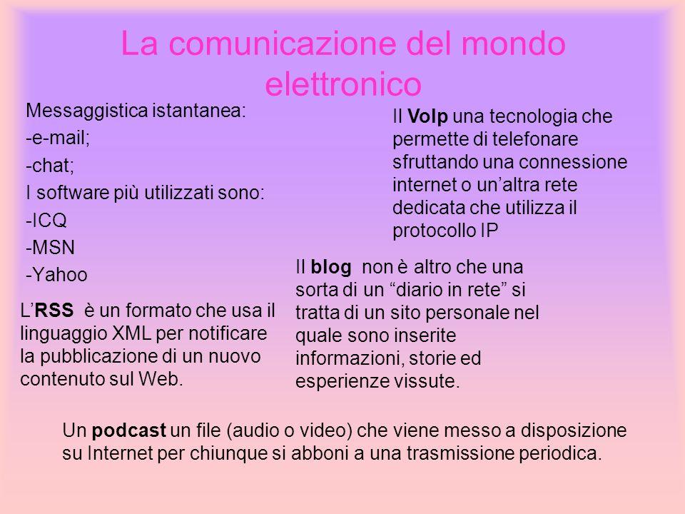 La comunicazione del mondo elettronico