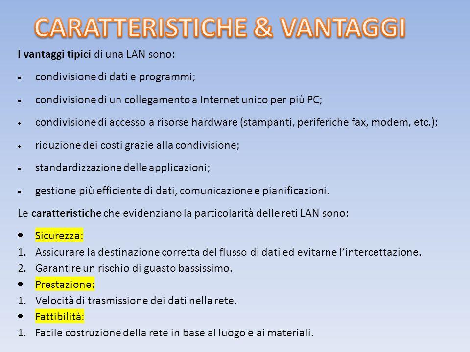 CARATTERISTICHE & VANTAGGI