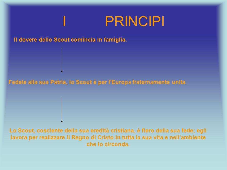 Fedele alla sua Patria, lo Scout è per l Europa fraternamente unita.