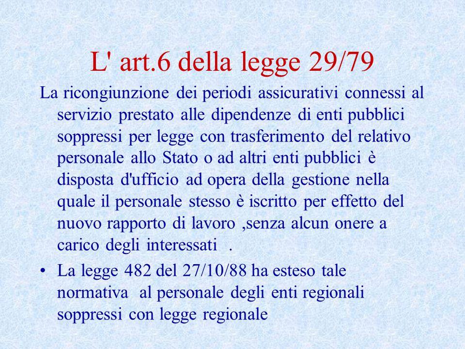 L art.6 della legge 29/79