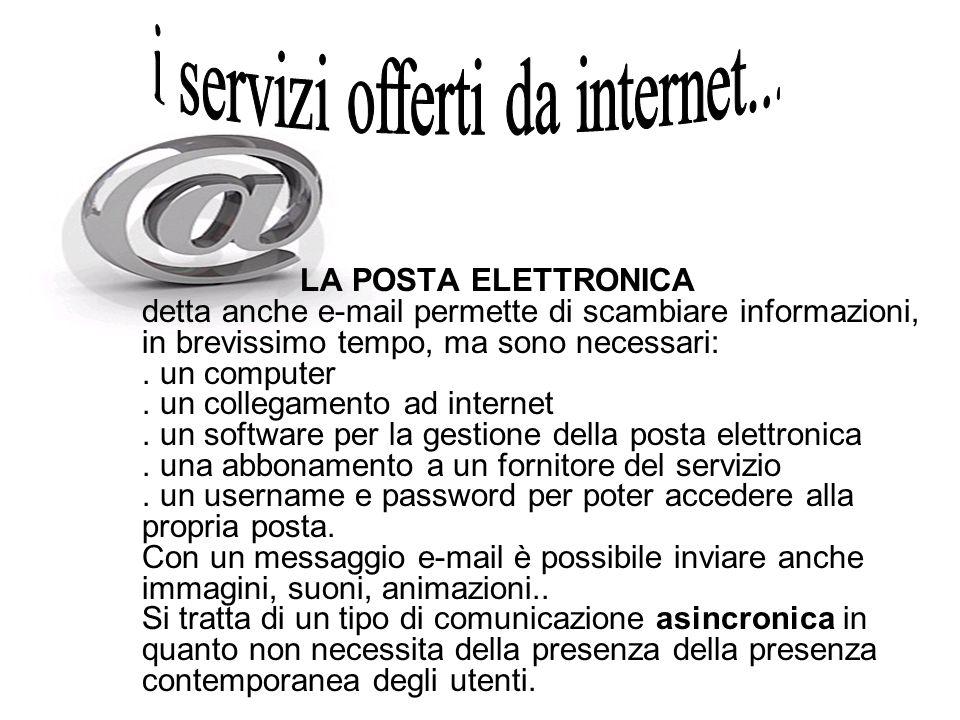 i servizi offerti da internet...