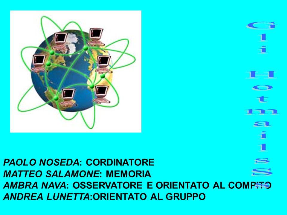 Gli HotmailsSs PAOLO NOSEDA: CORDINATORE MATTEO SALAMONE: MEMORIA