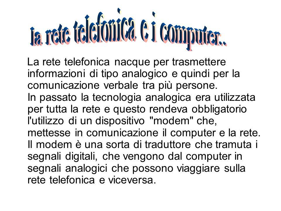 la rete telefonica e i computer..