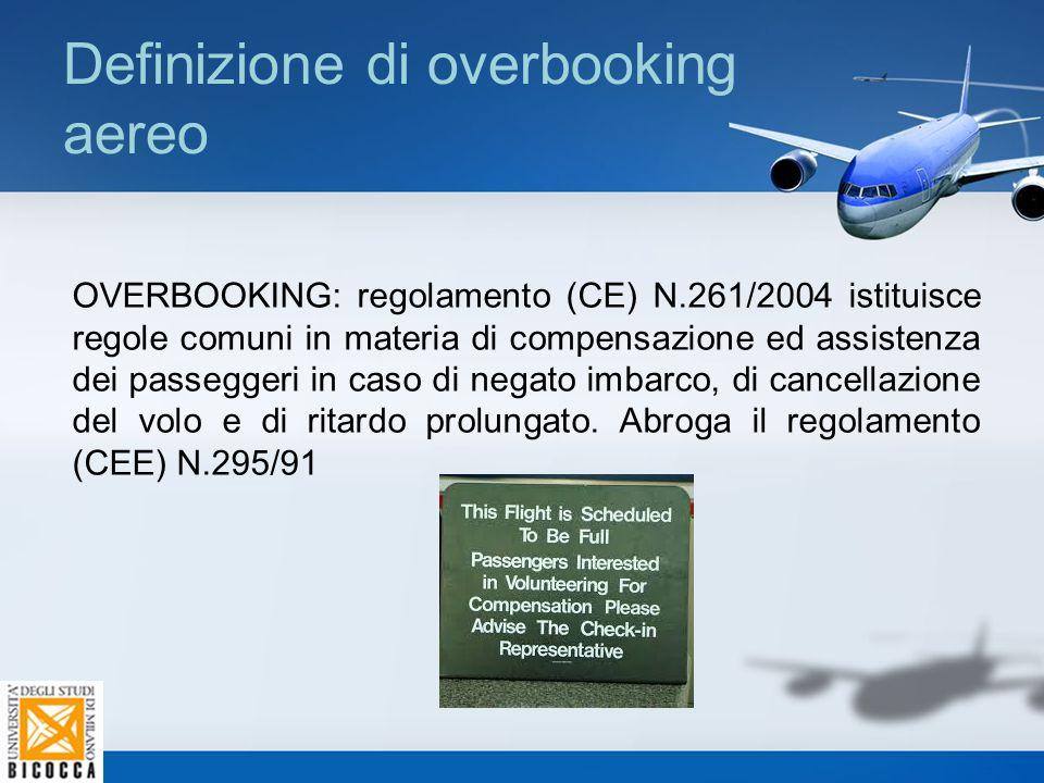 Definizione di overbooking aereo