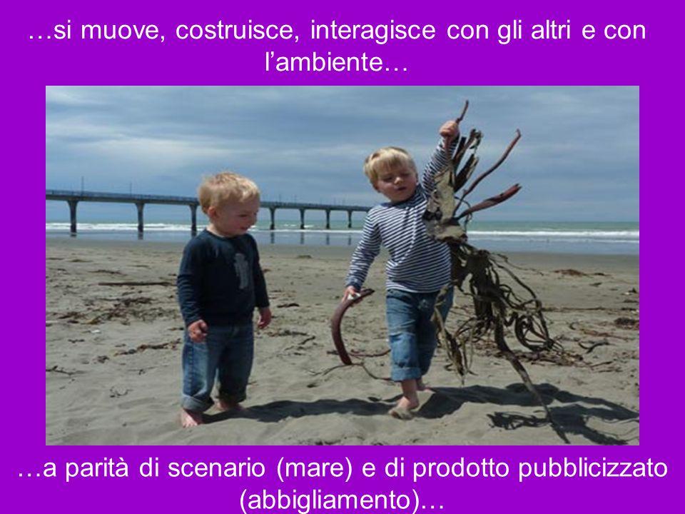 …si muove, costruisce, interagisce con gli altri e con l'ambiente…