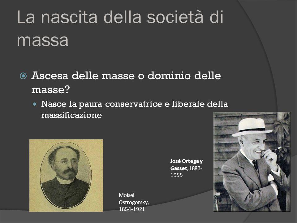 La nascita della società di massa