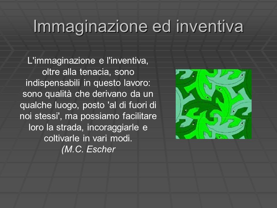 Immaginazione ed inventiva
