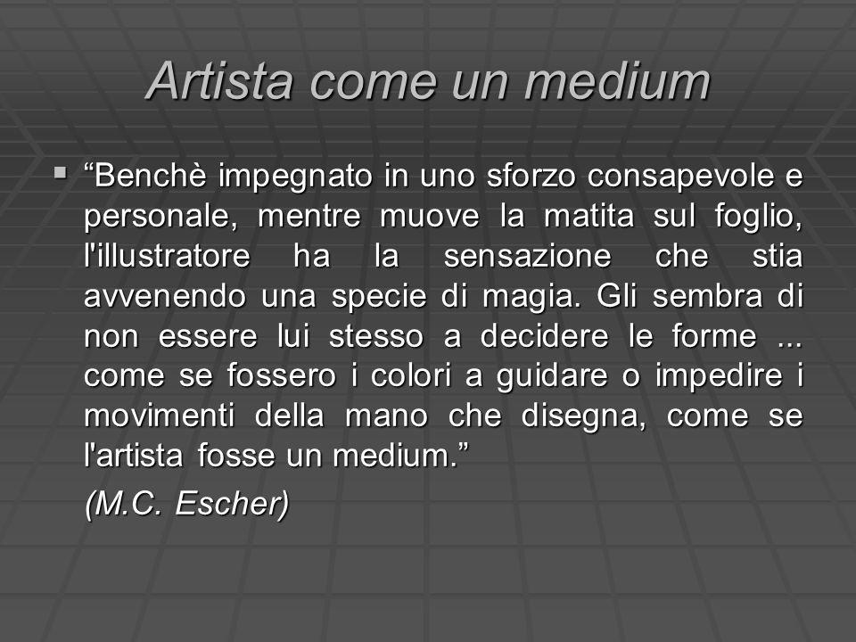 Artista come un medium