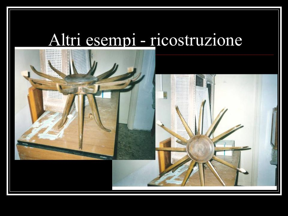 Altri esempi - ricostruzione