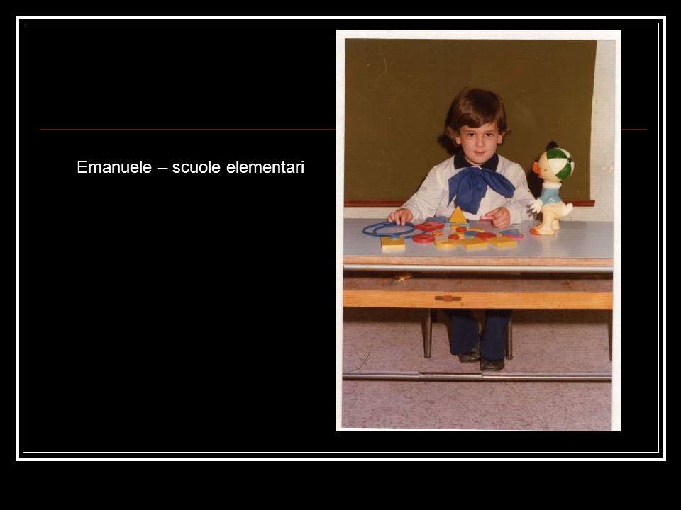 Emanuele – scuole elementari