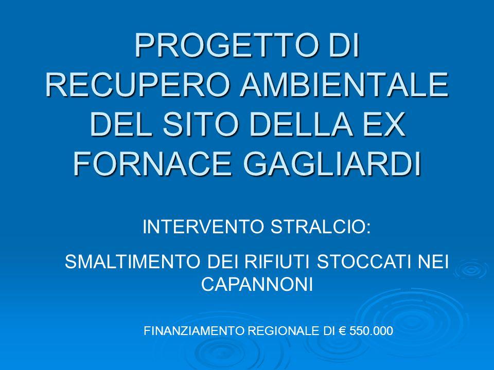 PROGETTO DI RECUPERO AMBIENTALE DEL SITO DELLA EX FORNACE GAGLIARDI